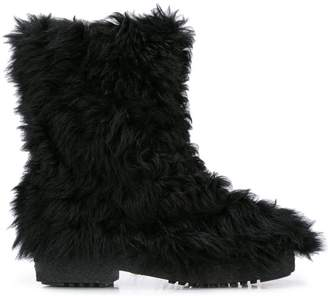Saint Laurent winter fur boots