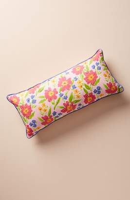 Anthropologie Painted Poppies Accent Pillow