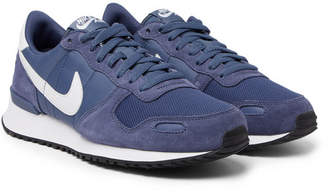 Nike Air Vortex Suede, Nylon And Mesh Sneakers - Navy