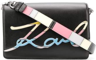 Karl Lagerfeld Paris K/Signature Special Enamel crossbody bag