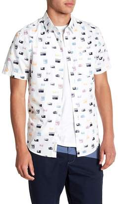 Original Penguin Radio Print Short Sleeve Regular Fit Shirt