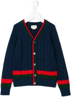Gucci Kids cable knit cardigan