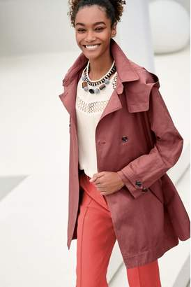 Next Womens Rose Short Trench Jacket