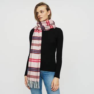 Maje Plaid knit scarf
