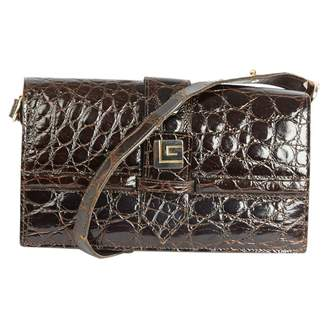 Guy Laroche Vintage Brown Leather Handbag