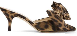 Magda Butrym China Leopard-print Satin Mules