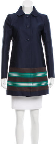 prada Prada Iridescent Swing Coat