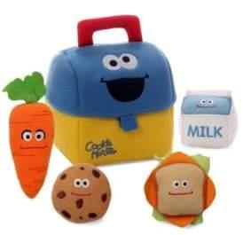 Gund Plush Cookie Monster Lunch Box Playset