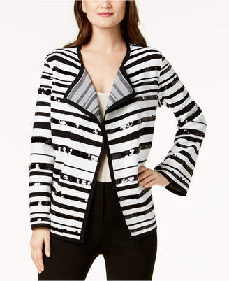 Alfani Sequin-Embellished Sweater Jacket, Created for Macy's