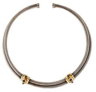David Yurman Renaissance Iolite & Tourmaline Choker Necklace silver Renaissance Iolite & Tourmaline Choker Necklace