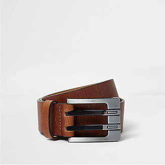 River Island Tan double prong leather belt