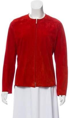 Max Mara 'S Suede Zip-Up Jacket