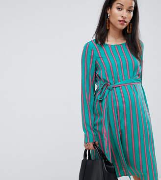 289ca9c142c Mama Licious Mama.Licious Mamalicious maternity stripe woven mini dress in  blue