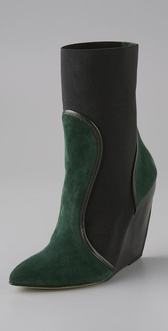 Leopoldo Giordano Two Gore Wedge Bootie