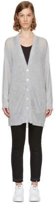 Alexander Wang Grey Long-Line Cardigan