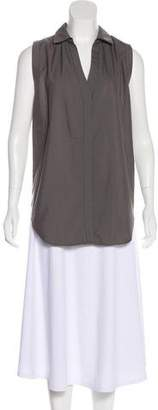 Brochu Walker Sleeveless Button-Up Top