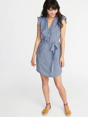 Old Navy Sleeveless Tie-Belt Shirt Dress for Women