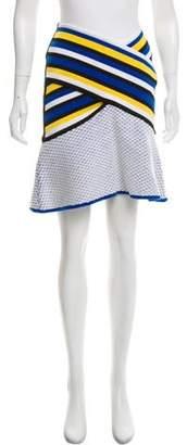 Prabal Gurung Striped A-Line Skirt