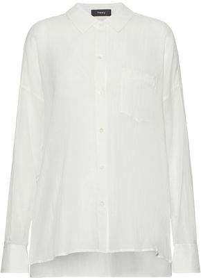 Theory Asymmetric Cotton-Gauze Shirt
