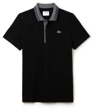 Lacoste Men's SPORT Jacquard Accents Petit Pique Golf Polo