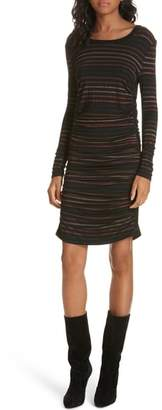 Veronica Beard Daphne Metallic Stripe Dress