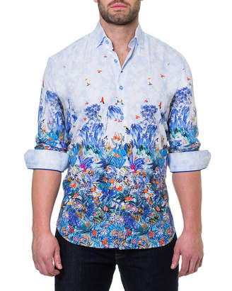Maceoo Men's Shaped-Fit Luxor Amazon Sport Shirt