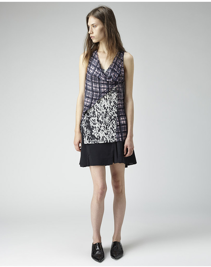 3.1 Phillip Lim printed twisted placket top