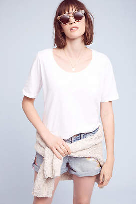 Three Dots Scooped Jersey Tee $66 thestylecure.com