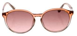 Linda Farrow The Row x Round Ombré Sunglasses