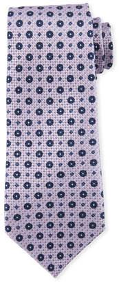 Giorgio Armani Flower-Pattern Silk Tie