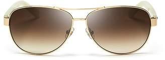 Kate Spade Dalia Aviator Sunglasses, 58mm