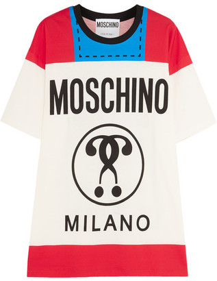 Moschino - Printed Cotton-jersey T-shirt - Red $350 thestylecure.com