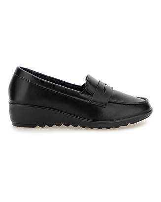 Cushion Walk Low Wedge Loafers E Fit