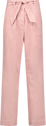 Sandro Perry cotton and linen-blend twill straight-leg pants $325 thestylecure.com