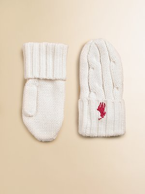 Ralph Lauren Infant Girl's Cabled Mittens