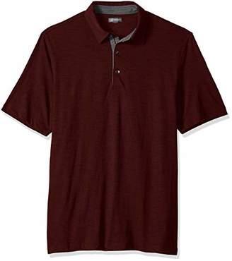 Van Heusen Men's Big and Tall Never Tuck Slub Short Sleeve Polo