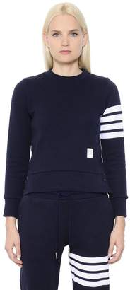 Thom Browne Intarsia Stripes Cotton Sweatshirt