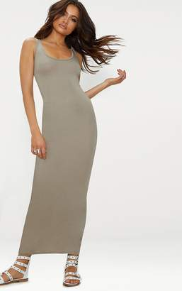 PrettyLittleThing Camel Basic Maxi Dress