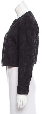 BLK DNM Leather-Suede Zip-Up Jacket