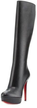 Christian Louboutin Christian Louboutin Bianca Botta 140mm Red Sole Knee Boot, Black
