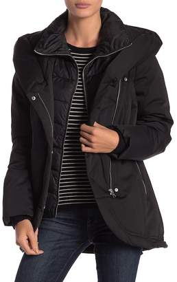 Soia & Kyo Asymmetrical Down Coat