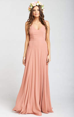 Show Me Your Mumu Jenn Maxi Dress ~ Rustic Mauve Crisp