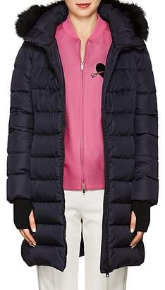 Herno Women's Fox-Fur-Trimmed Down-Quilted Parka - Navy
