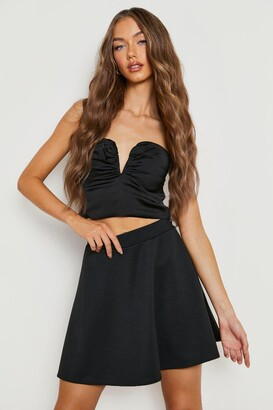 boohoo Basic Micro Fit & Flare Skater Skirt