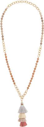 Panacea Stacked Tassel Pendant Necklace