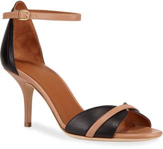 Malone Souliers Honey Napa Ankle-Strap Sandals