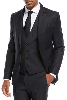 BOSS Herringbone Wool Three-Piece Suit