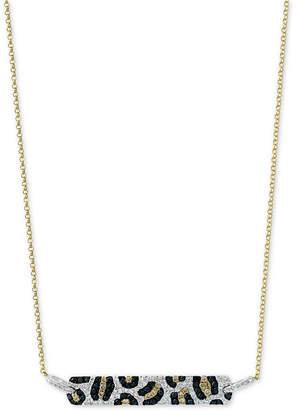 "Effy Multi-Color Diamond 18"" Bar Pendant Necklace (3/4 ct. t.w.) in 14k Gold"