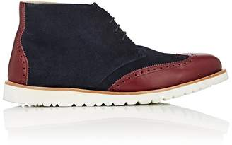 Emporio Armani Men's Suede & Leather Wingtip Chukka Boots