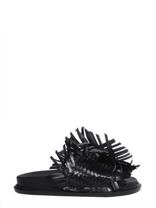 MM6 MAISON MARGIELA Woven Leather Slide Sandals